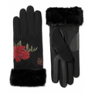 ISOTONER Touchscreen Rose Floral Faux Fur Gloves
